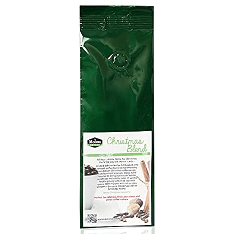 Christmas Coffee Blend - Artisan Hand Roasted Premium 100% Arabica Coffee delicately blended with Christmas Spices. Suitable for most coffee makers 227g