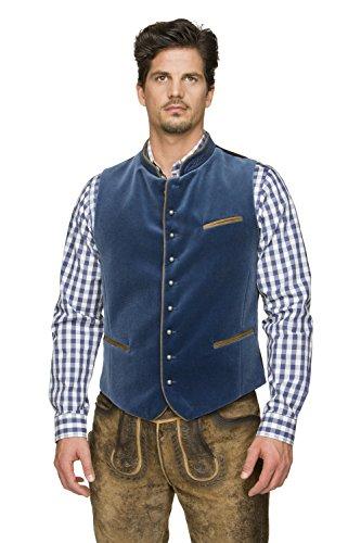 Stockerpoint - Herren Trachten Weste Ricardo, Farbe:Rauchblau, Größe:48