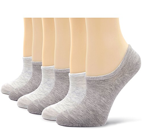 Womens No Show Trainer Socks Invisible Non-Slip Cotton Socks,4/5/6 pairs