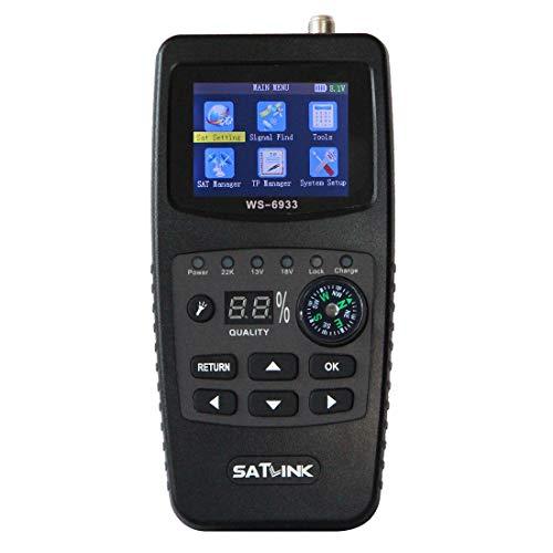 CELINEZL Receptor de TV SATLINK WS6933 Medidor de buscador de satélite Digital...