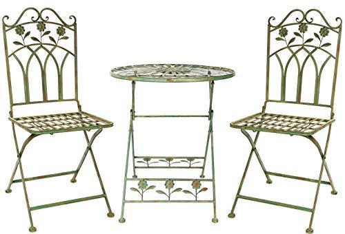 Garnitur Gartenset Eisen Gartenmöbel Garten Grün Antikstil garden furniture iron