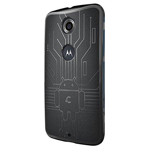 CruzerLite Nexus6-Circuit-Black Bugdroid Schluss Schutzhülle für Motorola Nexus 6 schwarz