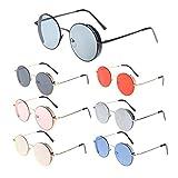 Warmingecom Classic Retro European Men Women Punk Sunglasses Metal Round Frame Eyewear