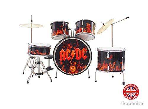 Mini-Schlagzeug AC/DC, 15 cm hoch, handgefertigt