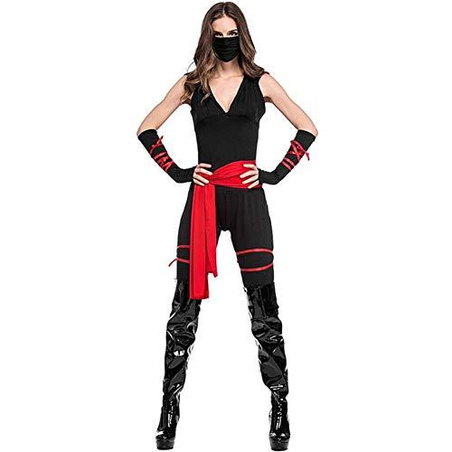 ASDF Halloween-Rollenspiel-schwarzes Ninja-Kleid-Stadiums-Kleid
