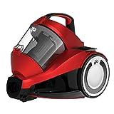 Dirt Devil DD2424-1 Rebel 34 Parquet Singlecyclone Staubsauger (700 W Hocheffizienzmotor, 1,8 L, HEPA Media Ausblasfilter, ohne Beutel) rot metallic