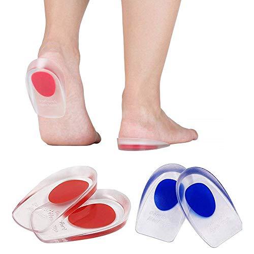 2 Paar Gel Fersenkissen, Silikon Fersenschale Pads, Schuheinlagen Fersenstütze Fersenkappen Geleinlagen für Achillessehne Unterstützung -