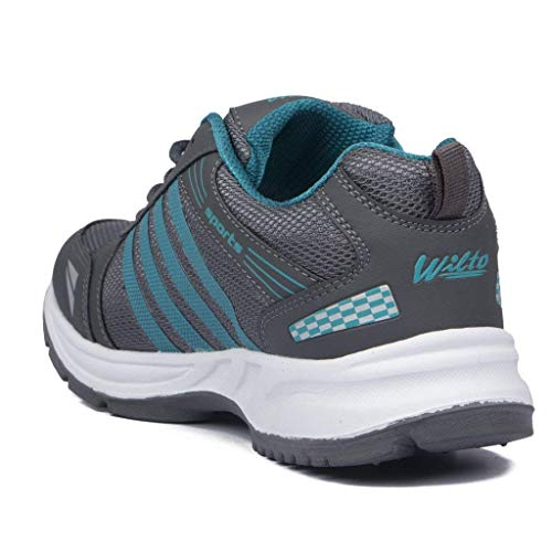 Men's Running Sports Shoes (8, Grey)