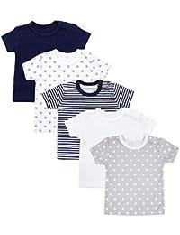 TupTam Camiseta Manga Corta para Bebé, Pack de 5