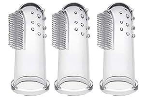 CalMyotis® Zahnbürsten Zahnpflege für Babys, Kindermundpflege Fingerzahnbürste. Aufbewahrungsbox für Zähneputzen und Zahnfleischmassage (3 Stück)