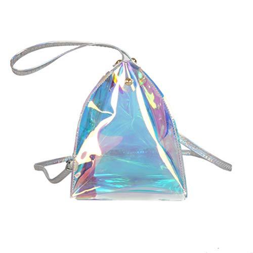 TENDYCOCO Umhängetasche Handtasche Dreieck Hologramm Kunststoff Mini für ()