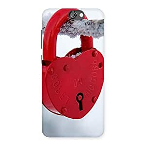Neo World Red Lock White Back Case Cover for HTC One A9
