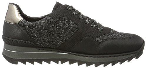 Rieker Damen M6920 Sneaker Schwarz (Schwarz/Noir-ARGENT/schwarz/altsilber / 02)