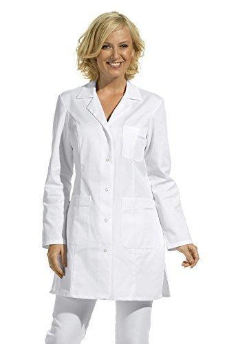 Damen Hosenkasack 1/1 Arm -weiß- mit 3 Taschen, waschbar bis 60°C (38) (Wissenschaftler Kittel)