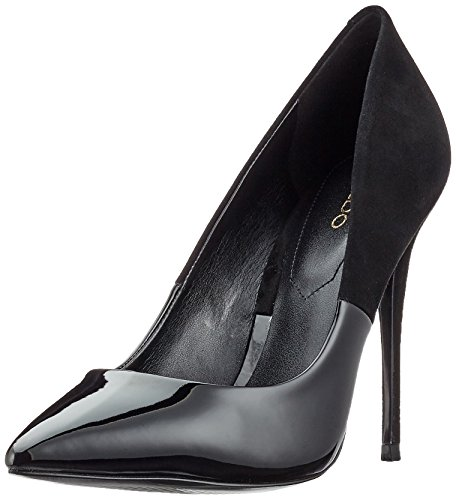 Aldo Women Stessy Closed-Toe Pumps, Black (Black Suede), 6 UK 39 EU