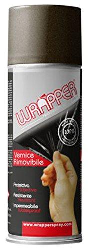 Quattroerre 16449 Wrapper Spray Vernici Rimovibili Tinta Metallizzata, Bronzo