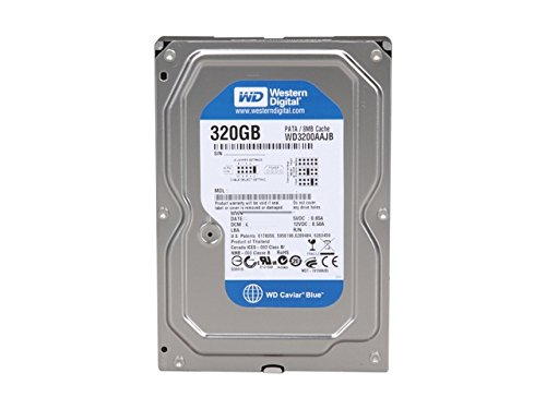 Western Digital WD3200AAJB Blue 320GB interne Festplatte (8,9 cm (3,5 Zoll), 7200rpm, 8MB Cache, E-IDE)