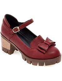 Sandalette-DEDE Zapatos Femeninos de Talla Grande Zapatos Femeninos de Talla Grande Medianos con Zapatos Sueltos...