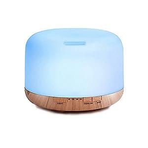 Decdeal – 500ml Humidificador Ultrasónico de Aire con Mando a Distancia, Lámpara Difusora de Aromas Aceite Esencial…