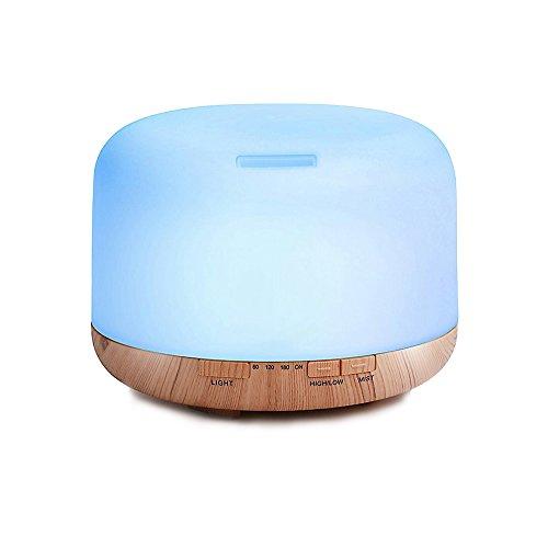 Decdeal - 500ml Humidificador Ultrasónico de Aire con Mando a Distancia, Lámpara Difusora de Aromas...