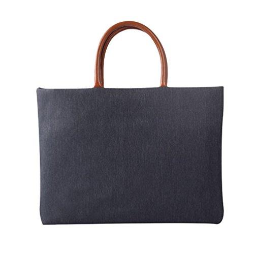 Yuncai Notebooktasche Apple Macbook Schutztasche Mode Handtasche Aktentasche Dunkel Grau One Size(12/13/14/15 Inch)