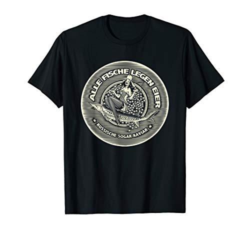 Männer-Geschenke für Angler: Kaviar Fisch Eier T-Shirt