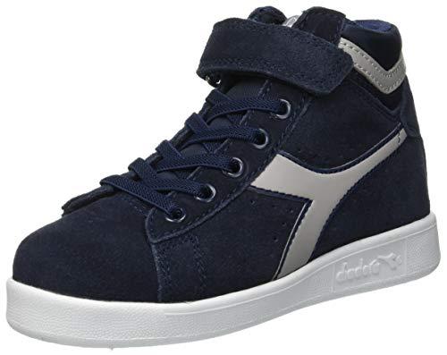 Diadora game s high ps, scarpe da ginnastica unisex – bambini, multicolore (blu profondo/grigio paloma c6125), 32 eu