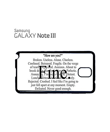 Everything is Fine Emotional Mobile Cell Phone Case Samsung Galaxy S4 Mini Black Blanc