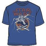 Star Wars - Camiseta - Hombre Azul Licht Navy Talla:large