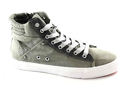 REPLAY RV730011T ALAME grey scarpe donna sneakers mid zil laterale Grigio