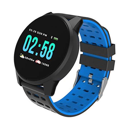 Intelligente Uhr Armband Farbdisplay Multifunktions Wasserdicht Meter Schritt Test Herzfrequenz Bluetooth Sportbekleidung Tabelle Blau