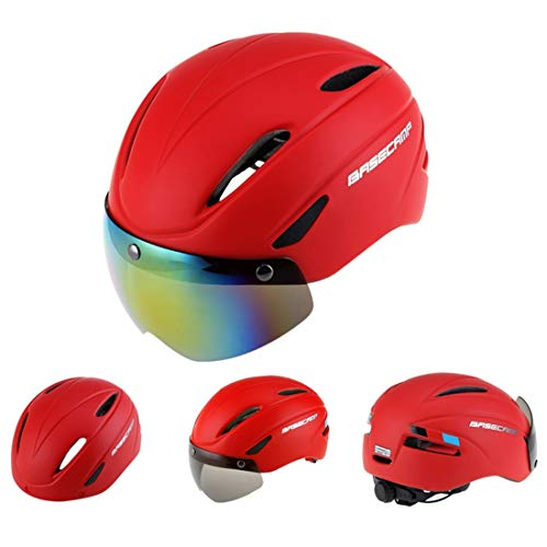 Xiaochou@sl Casque de Protection magnétique Professionnel de Sports de Plein air, adapté au Tour de tête: 56-62cm, Taille: 30 * 28 * 27cm sécurité (Couleur : Rouge)
