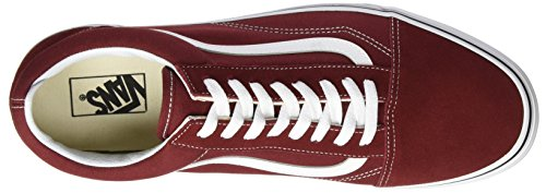 Vans Old Skool, Scarpe Running Unisex – Adulto Rosso (Madder Brown/true White)