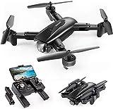 SNAPTAIN SP500 Drone Pliable avec Caméra 1080P GPS,30 Mins Autonomie,2 Batteires,Suivez-Moi,Auto Rentrer à la Maison ,Smartcapture