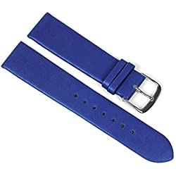 Berlin Replacement Watch Strap Calf Leather Band Blue 23237S Bridge Width: 24 mm