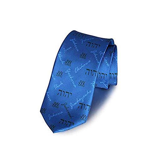 GuDeKe Jw org Thème Cravate Bleu Accessoire messieurs Cadeau de baptême de  pionnier