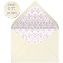 sobres forrados invitaciones de boda-DAMASCO- 22,5x16,5 cm. (rosa)
