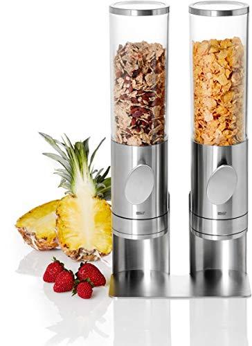 AdHoc Set Cerealienspender DEPOSITO im Ständer DEPOSITO Duo, Edelstahl/Acryl/Kunststoff, L: 21 cm, H: 42,5 cm