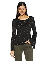 United Colors of Benetton Womens Body Blouse Shirt (17A3CV4E9545I_Black_S)