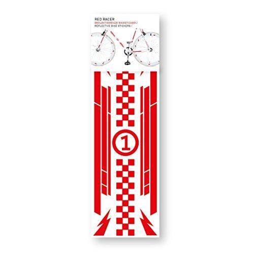 DONKEY Products Fahrrad-Sticker Bikereflex, Red Racer, Reflektierend, Sticker, Aufkleber, 300844