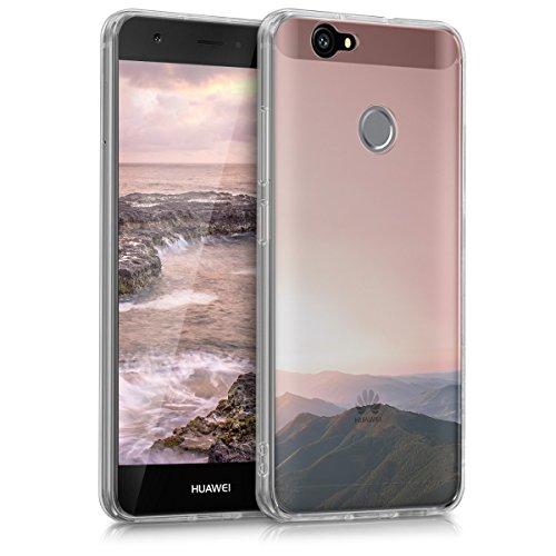 kwmobile Crystal Case Hülle für Huawei Nova - TPU Silikon Cover im Berg Morgenröte Design
