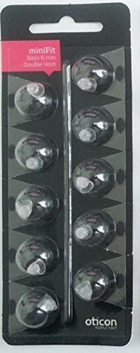 oticon-minifit-bass-6mm-double-vent-dome-piece-10-pack-by-oticon