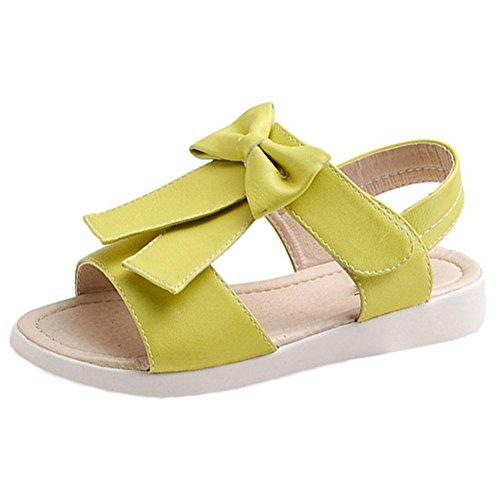 Scothen Les filles sandales sandales strappy été chaussures sport sandales chaussures plage sandales spartiates chaussures de princesse flip-flops sandales enfants espadrilles Chaussures ballerine Jaune