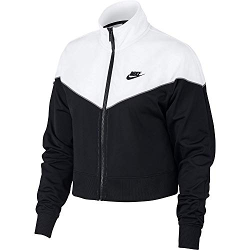 Nike Damen W NSW HRTG Track JKT PK Jacket, Black/White, S