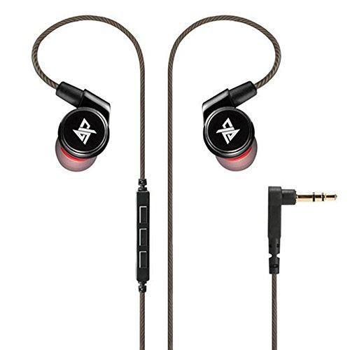 Wired Bass Kopfhörer Geräuchunterdrückung Earbuds In-Ear Kopfhörer Sport HIFI Headset mit Abnehmbarer Ohrbügel Fitness Kopfhörer Musik 3D Surround Sound Kopfhörer Mit Mic