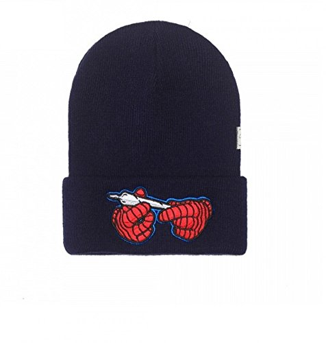 Cayler & SONS White Widow Old School Beanie Berretto Invernale navy/rosso Taglia unica