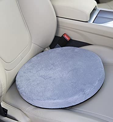 Posture Cushion - 360 Rotating Memory Foam Swivel Cushion. Great For Getting In And Out Of The Car If You Have Mobility Problems. Available In Blue With A Soft Feel Cover And Non Slip Base. Great Quality And Value For Money. - cheap UK cushion store.