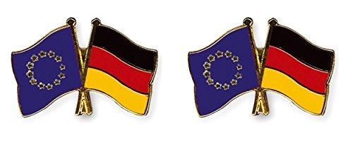 Yantec Freundschaftspin 2er Pack Europa Deutschland Pin Anstecknadel Doppelflaggenpin
