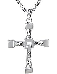 09c7728d60a3 Hanessa puro acero inoxidable casi and Furious Vin Diesel Cruz-cadena con  colgante de cruz regalo Hombre para…