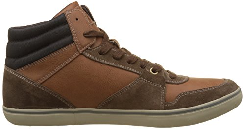 Geox Herren U Box J Hohe Sneaker Braun (Ebony/Browncotto)